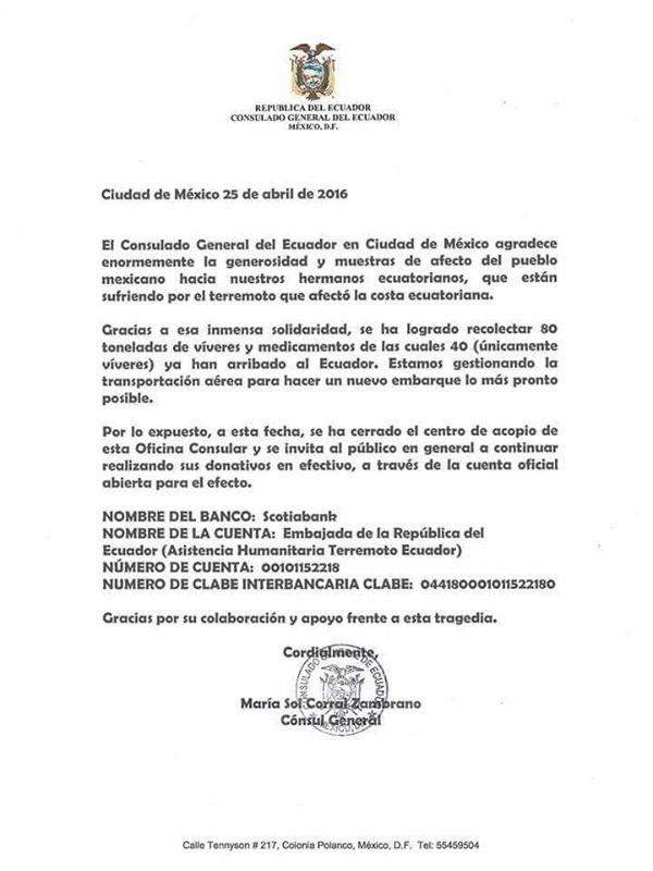 """Mientras damnificados necesitan ayuda para largo, embajadas Ecuador rechazan ayuda y piden """"en efectivo"""" https://t.co/HK1Z4E2lLC"""
