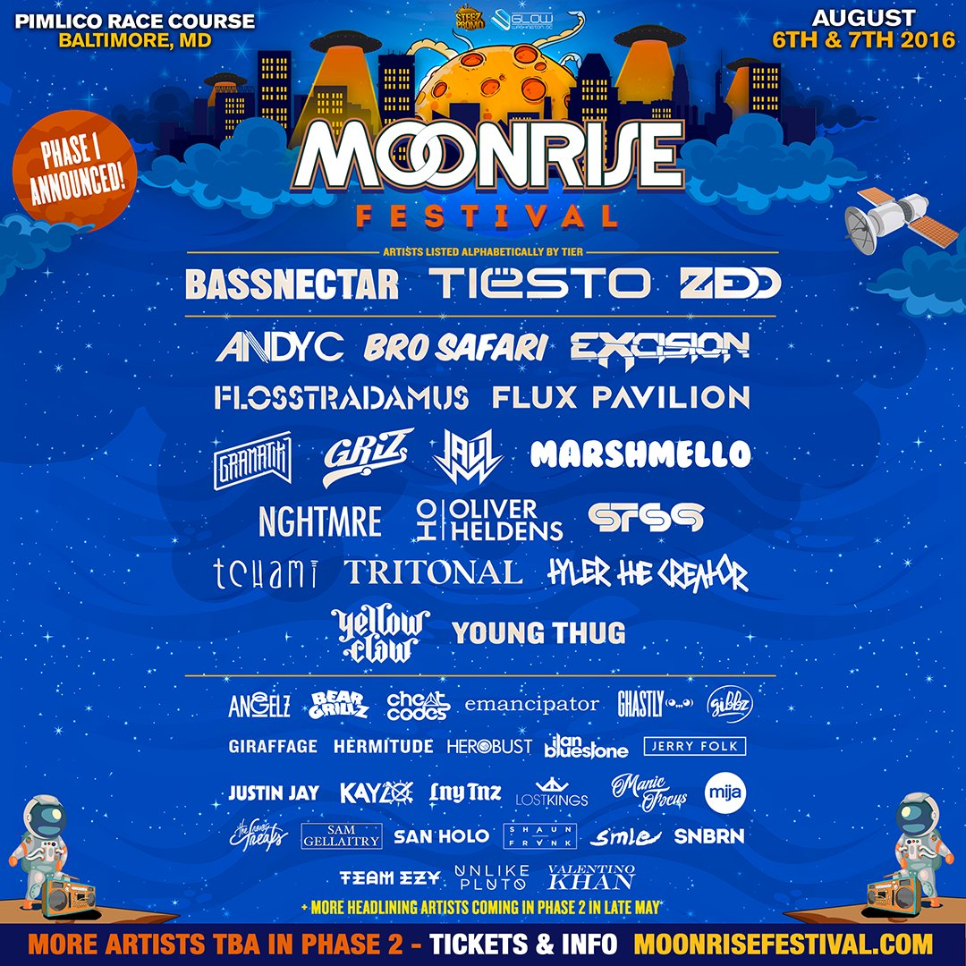 PRESENTING PHASE I OF @MoonriseFest 2016!