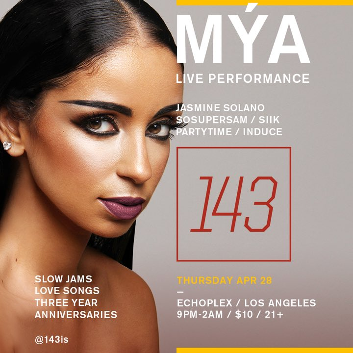 tmrw the R&B gods will reign supreme. ✨ @_143is 3 year anniversary with @MISSMYA and @sosupersam https://t.co/BCSdbeXE9M