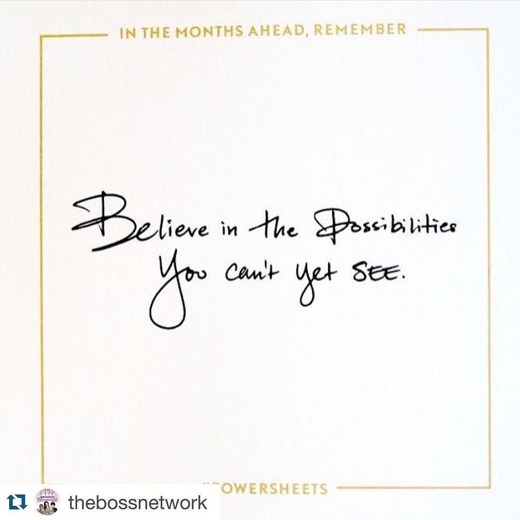 Absolutely! Great reminder via @thebossnetwork ・・・ Unlimited possibilities  #success #busi… https://t.co/1tQYo7d97T https://t.co/KYUGGi6hhJ