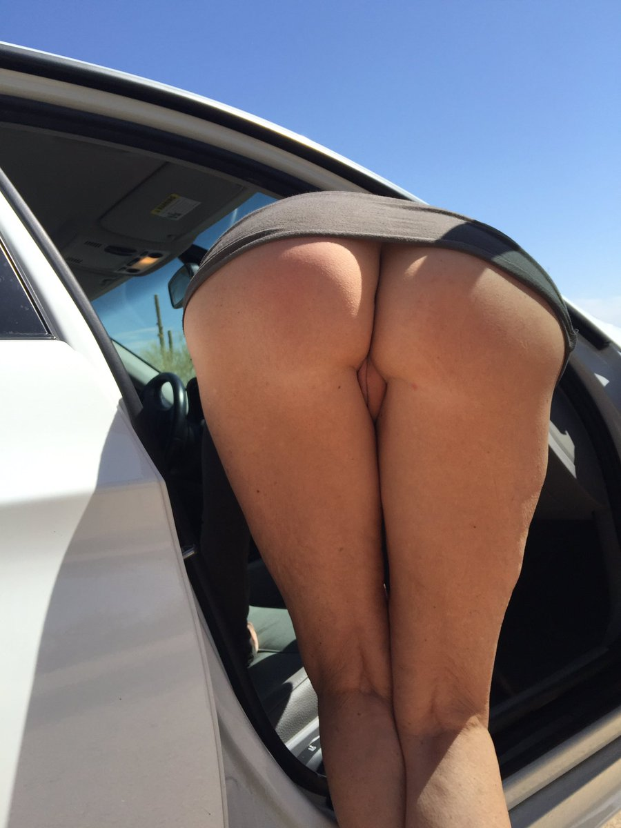 I think I dropped something in your car. I'll bend over and get it. #assWednesday #assEveryday #nopanties