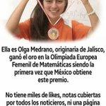 Esto sí es digno de dar likes, de seguirla, de aplaudirla. Olga Medrano es un ejemplo a seguir. #LadyMatematicas https://t.co/UZ81QFmn5q