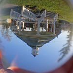 Glass sphere photograph of the gazebo on Sutton #Massachusetts town common - fun with unusual #photography :) https://t.co/aqtn9WHPNv