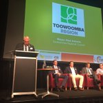 MayorAntonio takes the stage @TSBEnterprise evening April 2016 330 attendees! @TRCMayor @toowoombaregion https://t.co/0qAy4NjyvM