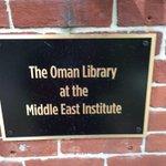 خلال تواجدي في واشنطن زرت المكتبة العمانية بمعهد الشرق الأوسط. شكرا عمان على دعم النشاط المعرفي والبحثي عن المنطقة https://t.co/XZfE5QEI2Q