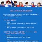 """GOT7 1st Concert """"FLY IN SEOUL"""" GOT7 FAN CLUB 부스 운영안내 #GOT7 #FLY_IN_SEOUL https://t.co/1kvkw9WW5I"""