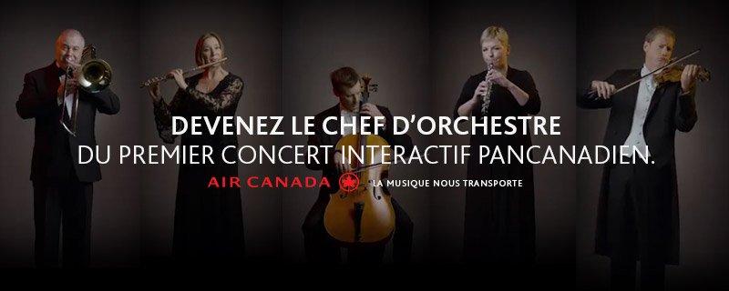 Devenez le chef d'orchestre du premier concert interactif pancanadien: