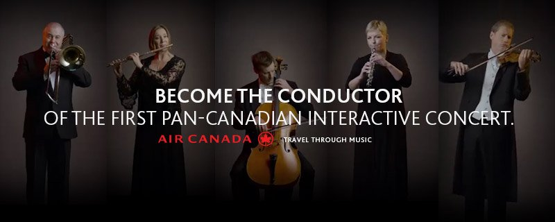 Become the conductor of the first pan-Canadian interactive concert: