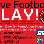 #Football #sessions available for #Hull #Foundationstage2 #Pupils @goals_hull, 4 and 5 year old #kids All welcome... https://t.co/7IqPUYHnAp