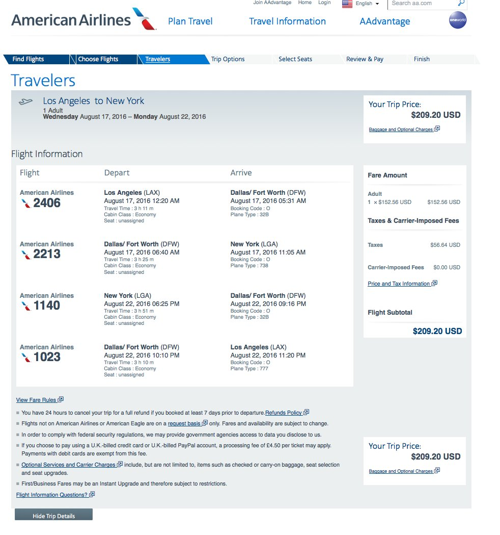 RT @airfarewatchdog: Los Angeles LAX to NYC LGA $210 RT @AmericanAir. Dates thru 2016.