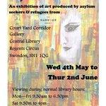Refugee&Asylum Seeker Art Exhibition #SwindonHour #TheHarbourProject @TheSwindonian @SwindonLibrary https://t.co/58rIMzdi0t
