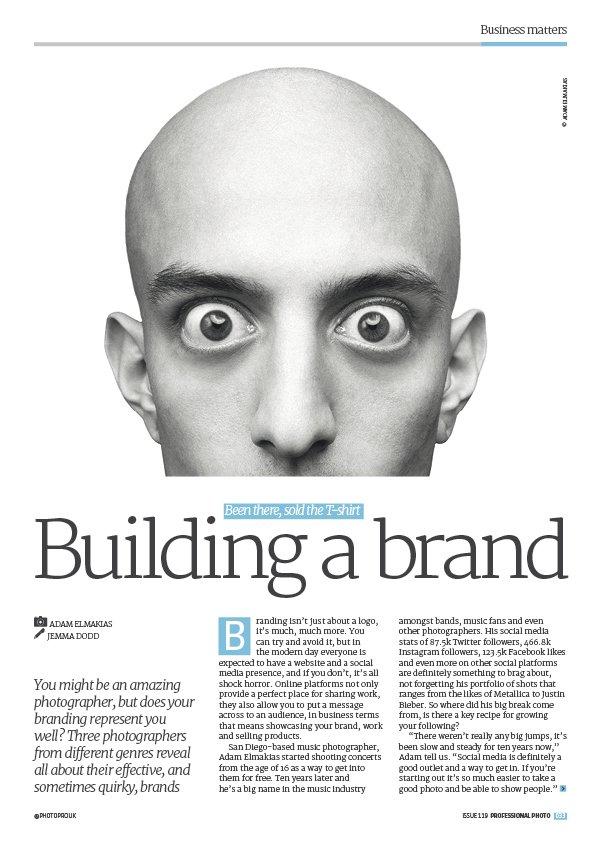 We talk #branding with #musicphotographer @elmakias in issue 119, on sale now! https://t.co/RR0s6ZJXtr