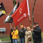 At #Toronto #DayofMourning our new flag waves to mourn workers collective loss. We fight 4 the living #canlab https://t.co/MsyUqFH1mQ