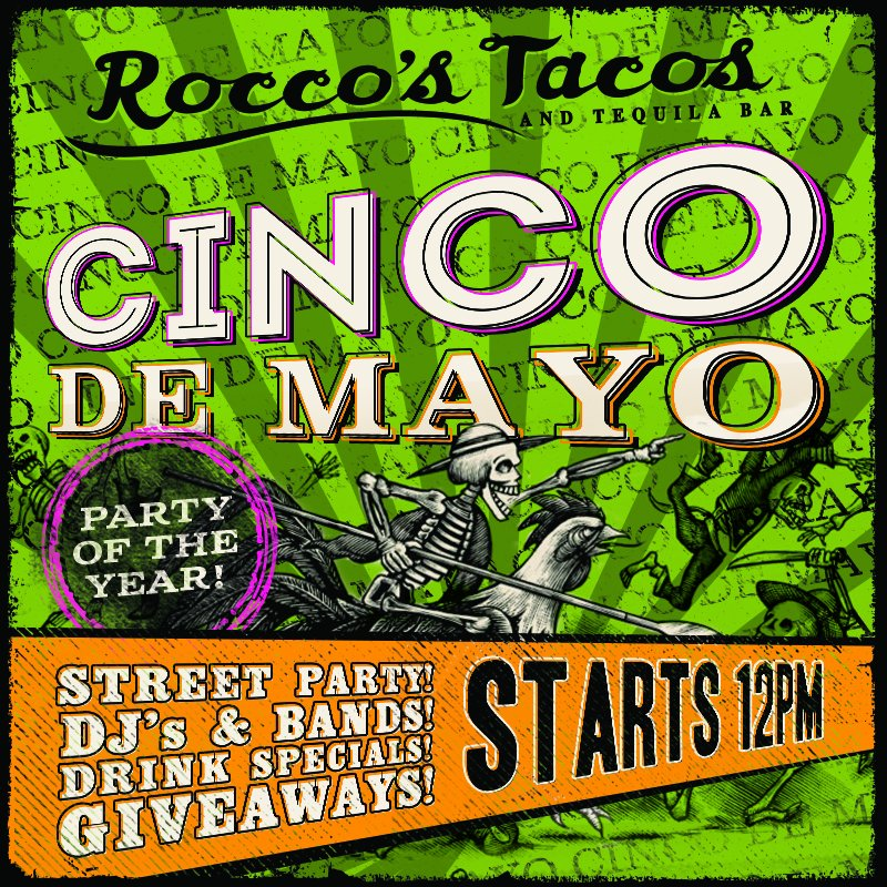 Only 1 week 'til #Cinco! Are you ready for the biggest party of the year? #RoccosTacos #TequilaDance https://t.co/nJBh2Cwkgt