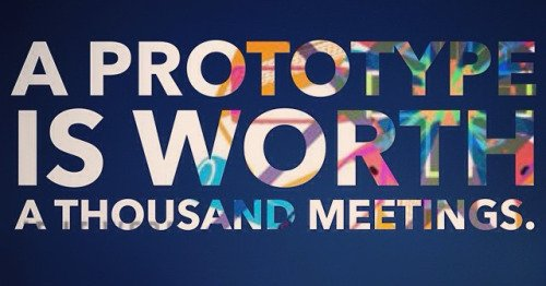 """""""A prototype is worth a thousand (long) meetings."""" - IDEO mantra #ThursdayThoughts https://t.co/r1AoQjqSwo"""