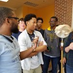 When a bird flies into school its another teachable moment for Mr. Etchison-Cooks zoology class! https://t.co/unmG6QOTPL