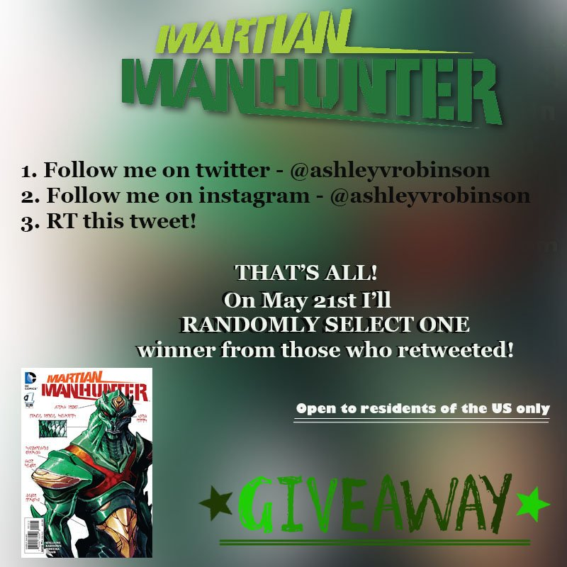 With @supergirlcbs over I am doing a #MartianManhunter GIVEAWAY! Details in the picture! #Supergirl #GIrlOnSupergirl https://t.co/modpKlsQHD