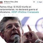 YO NO TENGO DUDAS: @hramosallup y @NicolasMaduro SON LOS PERSONAJES MÁS PERJUDICIALES QUE AFECTAN A VENEZUELA. https://t.co/52eA3cbbGp