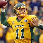 Its official @Eagles select Carson Wentz with #2 overall pick. Wentz goes from FCS North Dakota St. to Philly #WoW https://t.co/Y2lv4755Kj