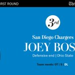 Ohio State DE Joey Bosa goes third overall to the San Diego Chargers #NFLdraft https://t.co/AqqMK2q9X1 https://t.co/08yRTal59t