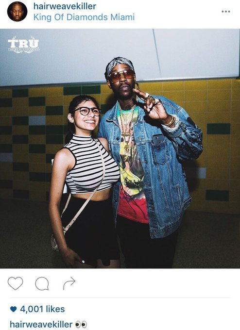 Hair weave killer meets Becky with the good hair @2chainz ??  (Photo by: @JoeMoore724) https://t.co/