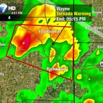 TORNADO WARNING now for Wayne Co. Indiana until 5:15pm. TAKE SHELTER Fountain City to Richmond. https://t.co/nfprtE0Srr