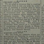 This week 150 years ago they were trying to set up a cricket team in Waterford. Those were the days. https://t.co/UqnuSWAuXg