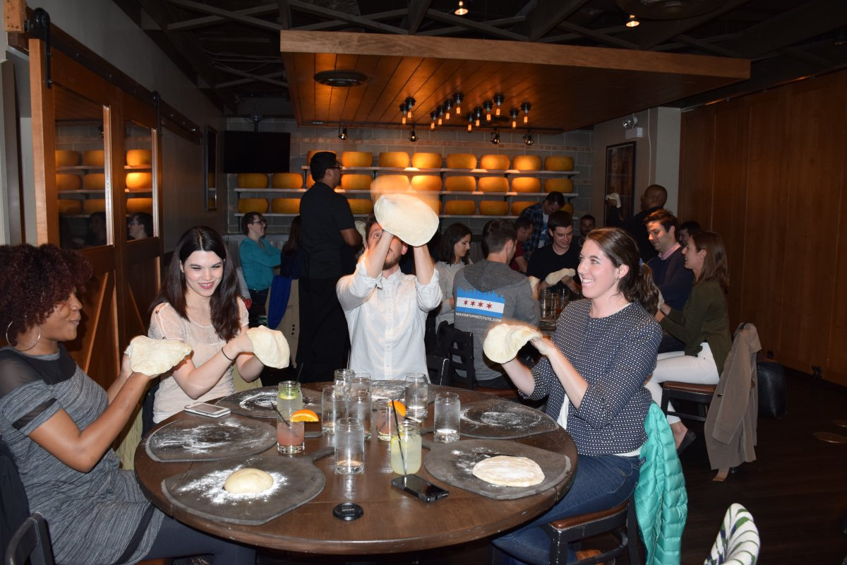 The @DoseTeam had a crash course in pizza making at @BarTomaChicago to see who could throw down the best pizza pie! https://t.co/nmu7zFBX79