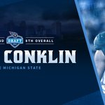 With the 8th overall pick in the 2016 #NFLDraft, the #Titans select @MSU_Football OT Jack Conklin. https://t.co/Dt8rgYKBnW