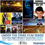NEW for this summer! FREE Saturday night films under the stars! July2-Sept3 https://t.co/PrFvvy8XPH #Fredericton https://t.co/edycly6mKz
