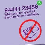 Reminder! 2 report any election violation, pls whatsapp d num shown here. A dedicatd team luks in2 it. #TN100percent https://t.co/6FZTAq9No9