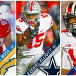 Buckeyes are on 🔥🔥🔥! Ohio State is 1st school to have 3 players selected in Top 10 since Oklahoma in 2010. https://t.co/d8lXThI3Vc