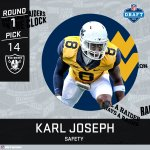 Karl Joseph to the Black Hole.  #NFLDraft https://t.co/Yvi9JgTysT