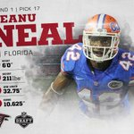 With the No. 17 pick, the Falcons have selected Florida S @Keanu_Neal! Welcome to Atlanta! #ATLDraft #NFLDraft https://t.co/0dTQTs52zk