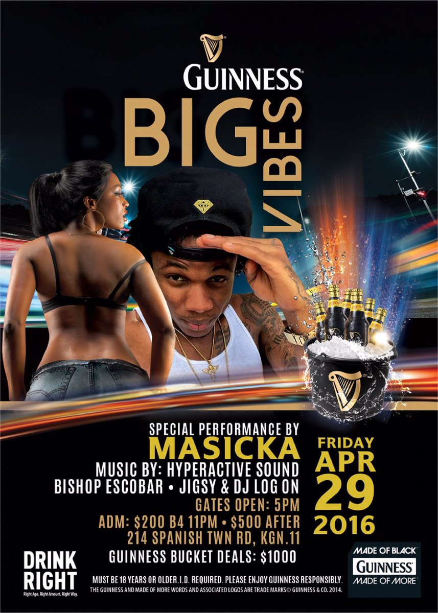 Retweet for a chance to win 4 tickets to Guinness Big Vibes!!! #DrinkResponsibly Must be 18+ https://t.co/bfDqbIqyQG