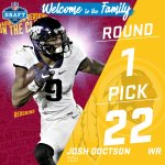 With the #22 pick in the 2016 #NFLDraft, the @Redskins select WR Josh Doctson (via @HoustonTexans)! https://t.co/29TcMpCDxF
