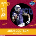 Kirk Cousins gets a new weapon in Josh Doctson. #NFLDraft https://t.co/EeBdhaDqU4