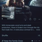 VIEWS exclusively on apple music now https://t.co/vSp1BHUePR
