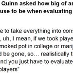 Heres the complete answer from #Lions GM Bob Quinn on how he evaluates draft prospects and possible marijuana use. https://t.co/fOLAoA8i6Y