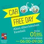 Hai #Bogorian ! CAR FREE DAY Bogor diberlakukan kembali. Ayok 1 Mei kita ramaikan Jalan Sudirman. #WeLoveBogor https://t.co/fPGfxJ2Dja