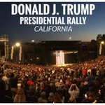 Donald Trump Presidential Rally in CALIFORNIA! It is #GameOver for LYIN TED CRUZ. LETS ROLL INDIANA & CALIFORNIA!!! https://t.co/3VRTFBs4SG