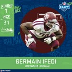 Germain Ifedi. 31st overall. Seattle Seahawks. #NFLDraft https://t.co/1T4dW6q7dS