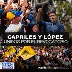 .@leopoldolopez reconoce a @hcapriles por lograr la activación del revocatorio https://t.co/x7jQRnOsKO https://t.co/n1t6VfhOXv