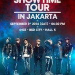[CONFIRMED] iKONCERT 2016 SHOWTIME TOUR in JAKARTA -3 September 2016-630PM-ICE BSD CITY. Promoted by @mecimapro https://t.co/gCcM5XELko