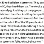 Heres the text of the false and Islamophobic story Donald Trump told tonight. Hes made it worse since February. https://t.co/0lPEli8030