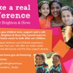 Make a real difference foster for Brighton & Hove https://t.co/AIh0kbuZor https://t.co/SpppDwugof