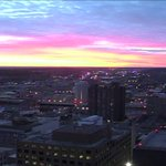 A Cotton Candy sky! MT @JimTeskeNC9: Another nice sunrise courtesy of Towercam in downtown Syracuse.  #LocalSYR https://t.co/dbWpiXgIRL