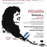 Charla-homenaje a #BertaCáceres @COPINHHONDURAS 04/05/2016 a las 19:00hrs en JJGGBizkaia C/Hurtado Amézaga 6 #Bilbao https://t.co/1JNMyI0QoK
