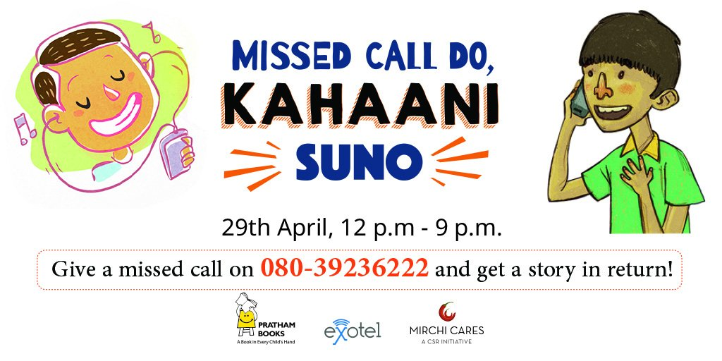 And the good news is ... the 'MIssed Call Do,#KahaaniSuno campaign' has been extended. 12-9pm today. Thanks @Exotel! https://t.co/1hRNNWI9pC