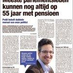 #PVDA @DeWitteKim hekelt dubbele moraal van parlementsleden. Vandaag in @HBVL. #DeMaatIsVol https://t.co/C4yIXz276i